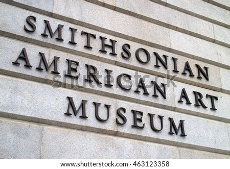Washington DC, USA - May 27, 2016: The museum has more than 7,000 artists represented in the collection. New Deal art, American impressionist paintings, photography, modern folk art.