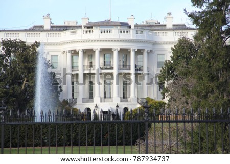 Washington, DC / USA - November 20, 2017: The White House fall 2017, Washington, DC