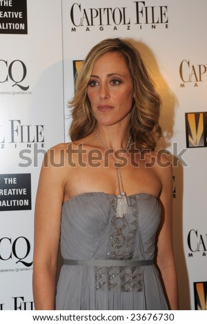 WASHINGTON - JANUARY 20: Actress Kim Raver arrives for the Creative Coalition dinner on behalf of the presidential inauguration on January 20, 2009 in Washington.
