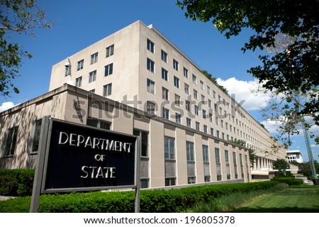 WASHINGTON - JUNE 1: U. S. Department of State Headquarters on June 1, 2014 in Washington, DC. - stock photo