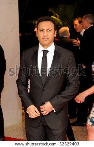 WASHINGTON MAY 1 - Aasif Mandvi arrives at the White House Correspondents Association Dinner May 1, 2010 in Washington, D.C.