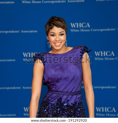 WASHINGTON MAY 3 - Alicia Quarles on the red carpet at the White House Correspondents' Association Dinner May 3, 2014 in Washington, DC - stock photo
