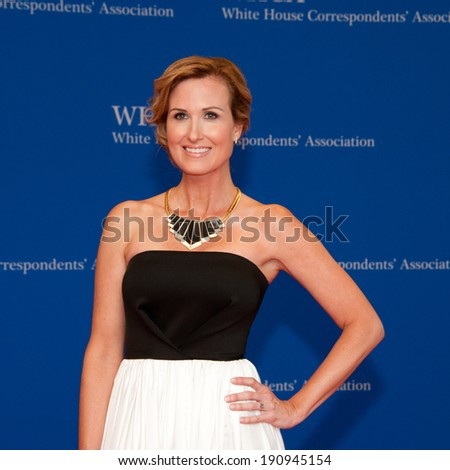 WASHINGTON MAY 3 -�� Korie Robertson arrives at the White House Correspondents� Association Dinner May 3, 2014 in Washington, DC - stock photo
