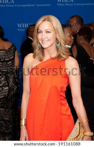 WASHINGTON MAY 3 -�� Lara Spencer arrives at the White House Correspondents� Association Dinner May 3, 2014 in Washington, DC - stock photo