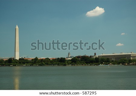 Washington Monument - DC - stock photo