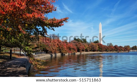 Washington Monument in autumn
