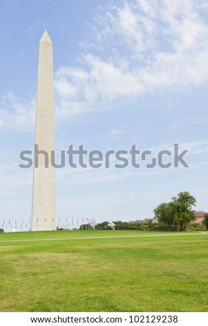 Washington Monument in the National Mall, Washington, DC