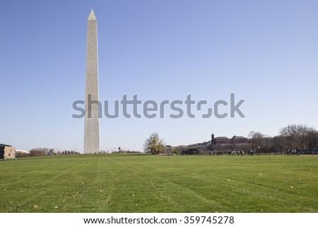 Washington Monument Washington DC - stock photo