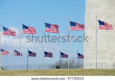Washington Monument, Washington DC, United States - stock photo