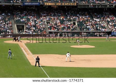 Washington Nationals vs. San Francisco Giants, AT&T Park - stock photo