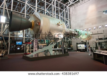 WASHINGTON, USA - January 04, 2009: Interior of the National Air and Space Museum located in Washington DC,USA