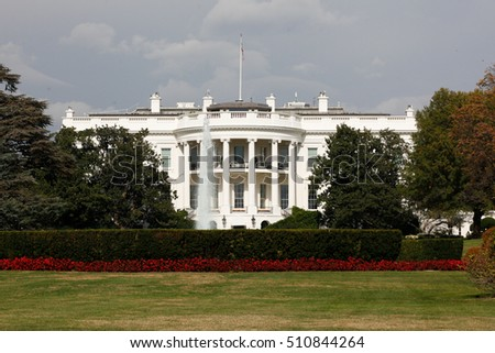 Washington, USA - Novemver 03, 2016: The White House knows that soon the new president.