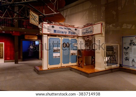 WASHINGTON, USA - SEP 24, 2015: Historical part of the National Air and Space Museum (NASM). It was established in 1946 as the National Air Museum - stock photo