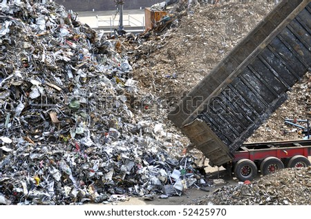 Waste collection center - stock photo