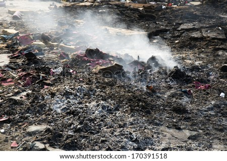 Waste Incineration - stock photo