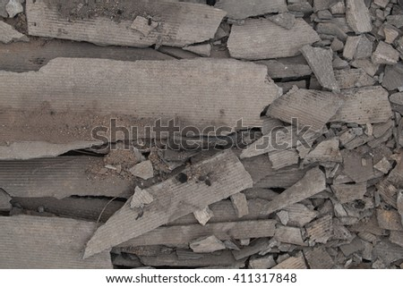 Waste material from demolished house