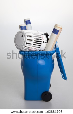 waste of energy - stock photo