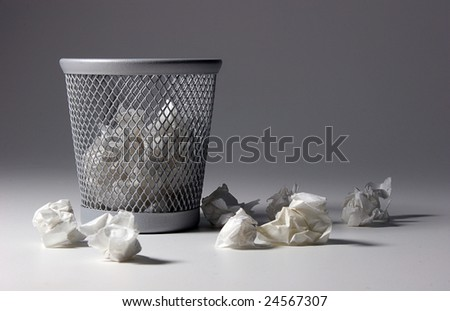 waste paper basket - stock photo
