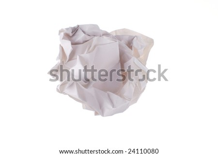 waste paper on white background - stock photo