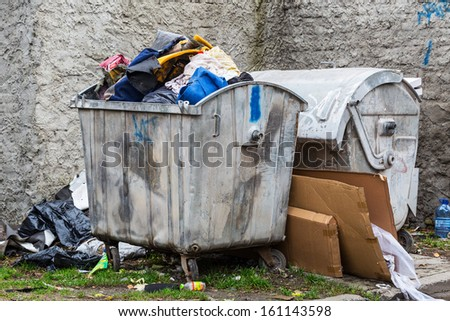 Waste sorting problem in Poland - stock photo
