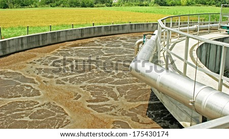 Waste-water cleaning technologies details - stock photo