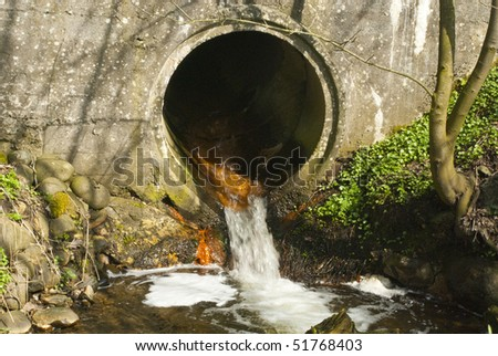 Waste water direct in to nature