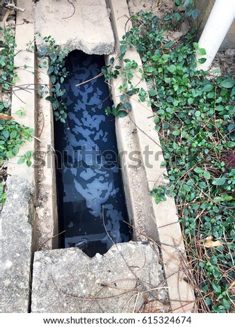 Waste water environmental pollution in city.
