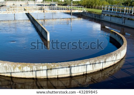 Waste water plant flow - stock photo