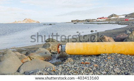 Waste water, Polluted water - stock photo