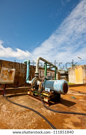 waste water  pump in petrochemical