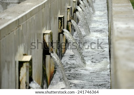 Waste-water treatment plant - stock photo