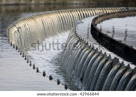Waste water waterfall - stock photo