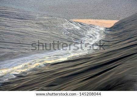 Wastewater in coal mine - stock photo