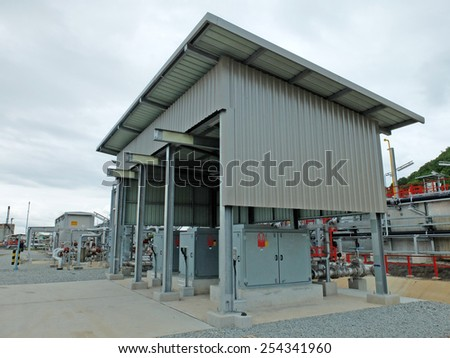 Wastewater Treatment Control Station in Refinery Thailand - stock photo