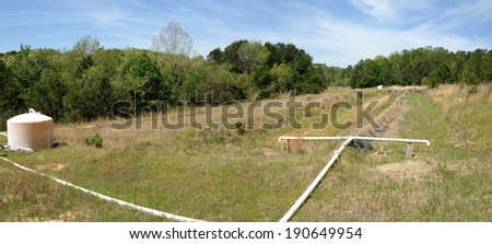 Wastewater treatment facility at University of Mississippi Field Station - stock photo