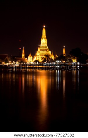 Wat Arun at night, Bangkok, Thailand - stock photo