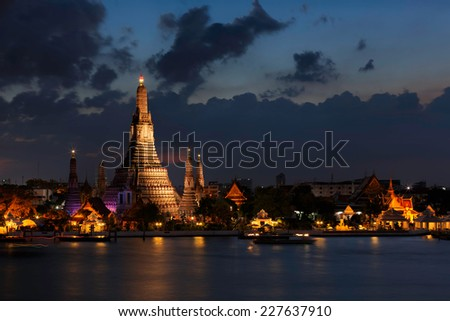 Wat Arun, Bangkok. - stock photo
