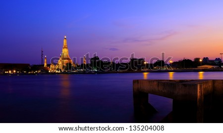 Wat Arun Thailand Temple - stock photo