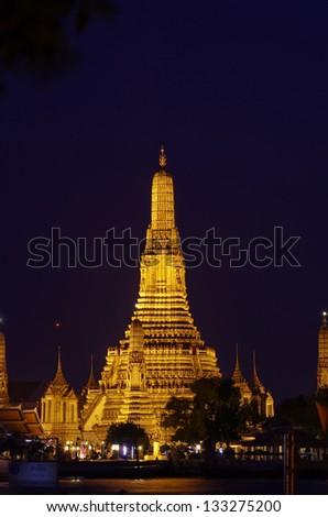 Wat arun view of Siam, Bangkok, Thailand - stock photo