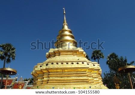Wat at thailand - stock photo