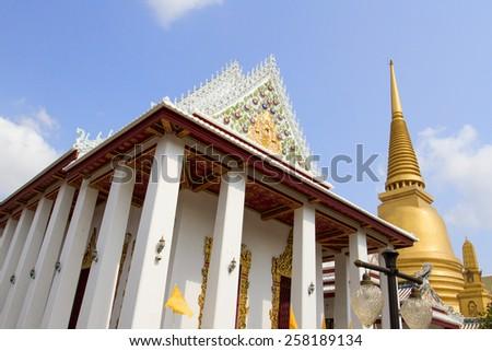 Wat Bowonniwet Vihara Bangkok, Thailand - stock photo