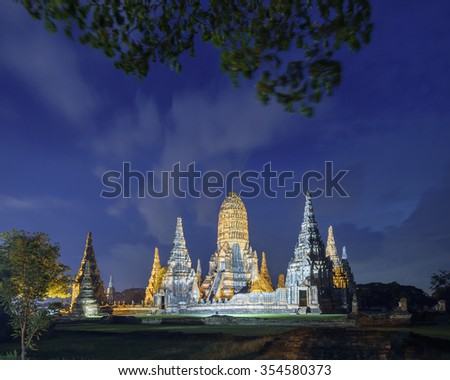 Wat Chaiwatthanaram is a Buddhist temple in the city of Ayutthaya Historical Park, Thailand,