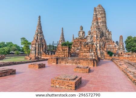 Wat Chaiwatthanaram Temple of Ayutthaya Province. Ayutthaya Historical Park, Thailand - stock photo