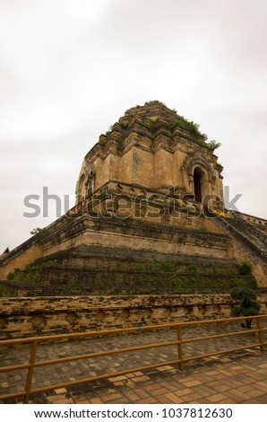 Wat Chedi Luang - Temple of the Great Stupa Chiang Mai,Thailand.