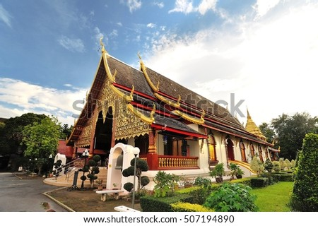 Wat chiang-man, an ancient temple located in the heart of chiang-Mai, Thailand