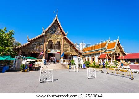 Wat Chiang Man Temple in Chiang Mai, Thailand - stock photo