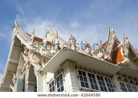 Wat Mahathat Worawihan Phetchaburi. - stock photo