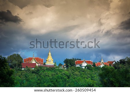 Wat Phathat Doisaket Temple, Chiang mai, Thailand. - stock photo