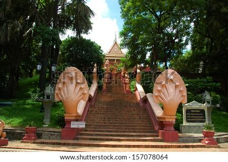 Wat Phnom, Phnom Penh, Cambodia - stock photo