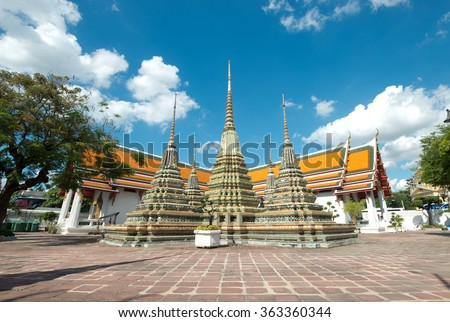 Wat Pho, Bangkok, Thailand - stock photo